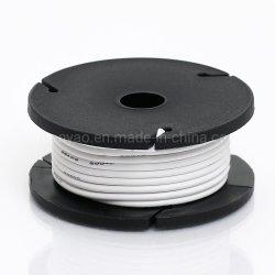 Odseven cubierta de silicona varados núcleo recubierto de caucho - 25ft cable 26AWG blanco