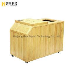 Proveedor de cuerpo medio barril sauna de infrarrojos para el hogar