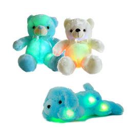 Venda por grosso de fábrica 25cm levou Soft Toy animais taxidermizados urso de pelúcia acender Teddy