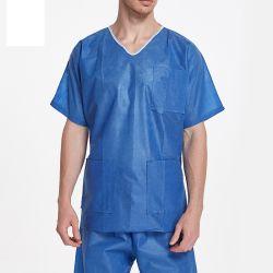 V-lawe قصيرة جلبة قصيرة SMS مستشفى الشجيرات الملابس مستشفى المريض Disposable اللهم