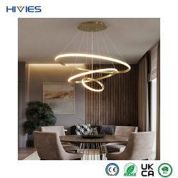 هيفيس ذو ديكور حلقة حديث عالى الجودة LED معلق كبير ثريا بندانت لايت للمنزل و الفندق