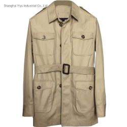 Handmade 우연한 Mens 재킷 남자 원정 여행 재킷을 예약했다
