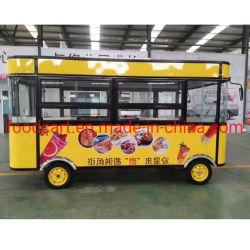 Electrical Fast Food comida móveis do veículo de reboque Carrinho Carrinho de venda de gelados, café, cachorro-quente, Donut, Flower