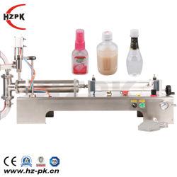 L'eau liquide pneumatique semi-automatique Hzpk Juce Machine de remplissage de bouteilles