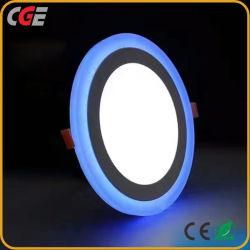 Светодиодные лампы панели дважды цветной светодиодной подсветкой лампа 3 Вт + 2W/3W+6W/18W+6W/12W W+6алюминиевая панель светодиодов панели потолка светодиодная лампа освещения лампы