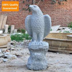Volledig met de hand gesneden Tuin decor Stone Marble Granite Eagle standbeeld Beeldhouwkunst (GSS-282)