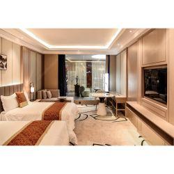 Mobilia moderna personalizzata dell'hotel della villa del ricorso di camera da letto di progetto di legno dell'insieme per la stella 5/Five