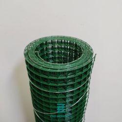 PVC에 의하여 입히는 용접된 철망사 1/2 x 1/2 x 1.5mm (입히는 후에) 녹색