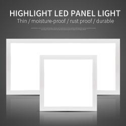 Ultra Slim rétroéclairé Square Super Bright 110lm/W SKD/assemblés à plat au plafond Panneau lumineux à LED avec garantie de 3 ans