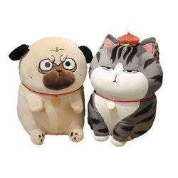 Speelgoed van de Pluche van de Baby van de douane vulde het Leuke de Hond van de Pluche en het Dier van het Stuk speelgoed van de Kat vormde de Pluche van het Speelgoed