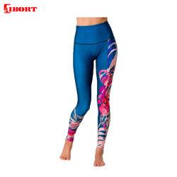Aibort Yoga-Gamaschen kundenspezifische Form-der blauen Entwurfs-schnell trockenen Breathable Frauen (L-YG-22)