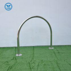 Soporte para suelo de soporte de bicicleta de acero inoxidable tipo U