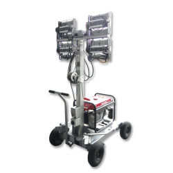 Moteur essence ou diesel, industriel Tour Mobile d'éclairage LED 4*200W