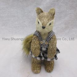 Noël Décoration de la paille de mousse Fox la pendaison pour les vacances Fête de mariage decoration de fournitures ornement du crochet de dons d'artisanat