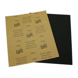 230*280mm wasserdichtes Silikon-Karbid-Schmirgelpapier mit Kraftpapier-oder Latex-Schutzträger