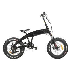 Neumático FAT de 20 pulgadas mini ciudad plegable bicicleta eléctrica con batería de litio de motor trasero