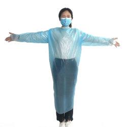 Gli abiti protettivi degli abiti dell'alimentatore dell'abito a gettare sicuro del manicotto aperti indietro con il pollice collega (NON SANITARIO)