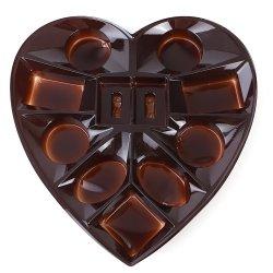 قالب مخصص على شكل قلب للطعام الشوكولاته حلوى وجبة خفيفة بليستر صينية