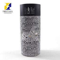 Goldener Karton-runder Glasflaschen-Pappzylinder-Gefäß-Wein-Geschenk-Luxuxkasten