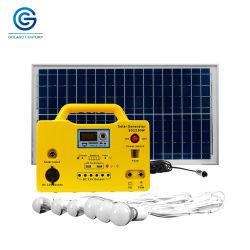 30W 18ah 12V gelijkstroom Portable van Grid Zonnepaneel Power Lighting Energy System Generator voor Home Lighting en Outdoor