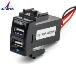 Carro automático universal de barramento 2 porta USB DC 5V 3.1A USB duplas Carregador Veicular para Mobile dispositivos Tablet
