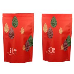 Papel Kraft impresso personalizado chá preto Chá Verde Ziplock Embalagem