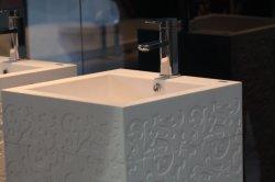 Ovale Kalay-Dt/carré blanc Surface solide Shampooing salle de bain évier pour un hôtel 5 étoiles