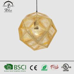 Commerce de gros projet de style européen d'éclairage de la poignée de commande de suspension ronde irrégulière de la lampe en acier inoxydable