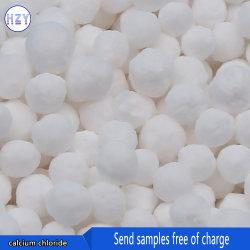 El cloruro de calcio granulado blanco producto químico para tratamientos de agua