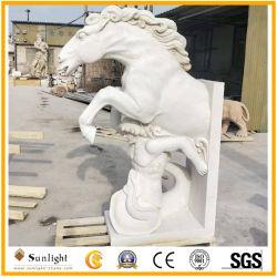Arte caballo tallado en piedra natural/León/ave elefante/animal/Oca Estatua de la decoración de jardín