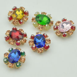 Novo design de moda Rhinestone jóias de Botão