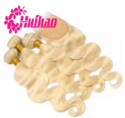 브라질 사람의 모발 길쌈 바디 파 머리 #Blonde 머리 #613 도매로