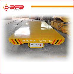Industriële Vlakke Kar op Gebogen Spoor voor Staalfabriek