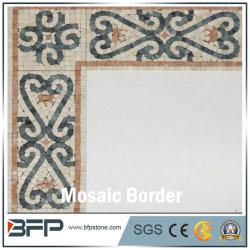 Flor antigo posto de fronteira com mosaicos de mármore azulejos decorativos
