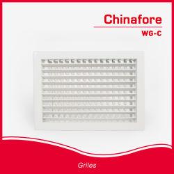 HVAC ベンチレーションアルミニウム壁エアサプライグリル WG-C ( 9016/9010 )