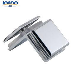 Placage au Chrome Cuivre de haute qualité 90 degré salle de douche bilatérale porte en verre de clips supports étagère pour sauna