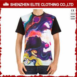 قميص ذو عنق مستدير مخصص للعنق بالياقة الدائرية بالبوليستر مع طباعة جافة مناسبة (ELTMTJ-123)