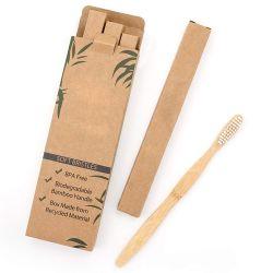 Tandenborstel 100% van het Bamboe van de Producten van het Bamboe van Ecco Vriendschappelijke Organische Biologisch afbreekbare Aard