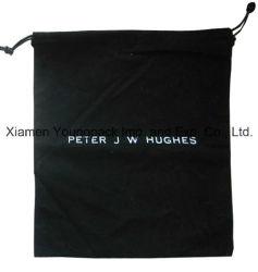 Мода Персонализированные пользовательские печати роскошный мягкий черного цвета из хлопка дамской сумочке мешок для сбора пыли
