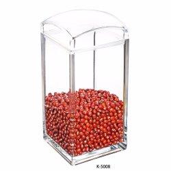 El almacenamiento de alimentos de rizo pequeño frasco de vidrio botella con tapa hermética
