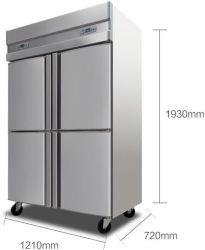 frigorifero della cucina dei portelli 1000L quattro con il Ce dei CB
