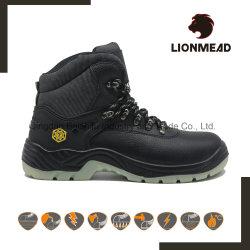 よい販売の最高切口の革注入PU TPUの安全作業靴