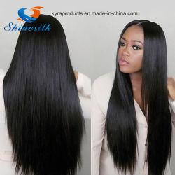 卸し売り加工されていないブラジルの毛の拡張100%人間の毛髪のよこ糸