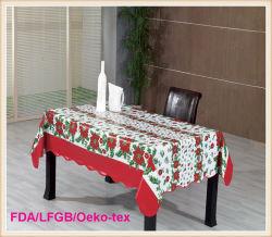 Plastique PVC imprimé Tissus de table / coureur de table style de noël (TJ0760)