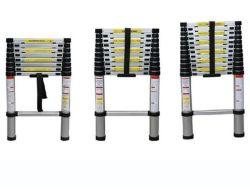 Qualidade superior 3,2 milhões de escada telescópica com 10 passos