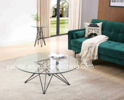現代ガラスコーヒーテーブルランプ表の居間の家具セット