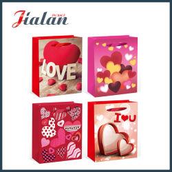 Commerce de gros 4c imprimé la Saint Valentin Emballage de cadeau Shopping sac de papier