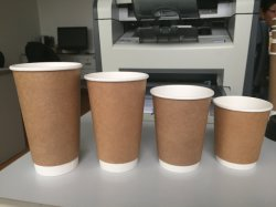 ロゴのカスタム印刷の使い捨て可能な二重壁の白書のコーヒーカップ