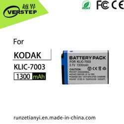 câmara digital 3.7V 1300mAh Klic-7003 da bateria para câmera Kodak Easyshare M380 M381 V803 V1003 Z950