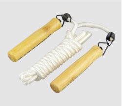 Cheap coton Corde à sauter à sauter en plastique